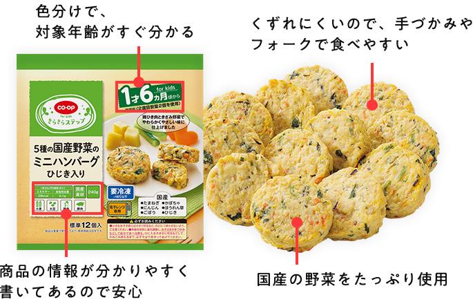 CO・OP 5種の国産野菜のミニハンバーグ(ひじき入り)